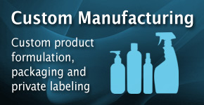 Custom manufacturing, product formulation, packaging, and private labeling
