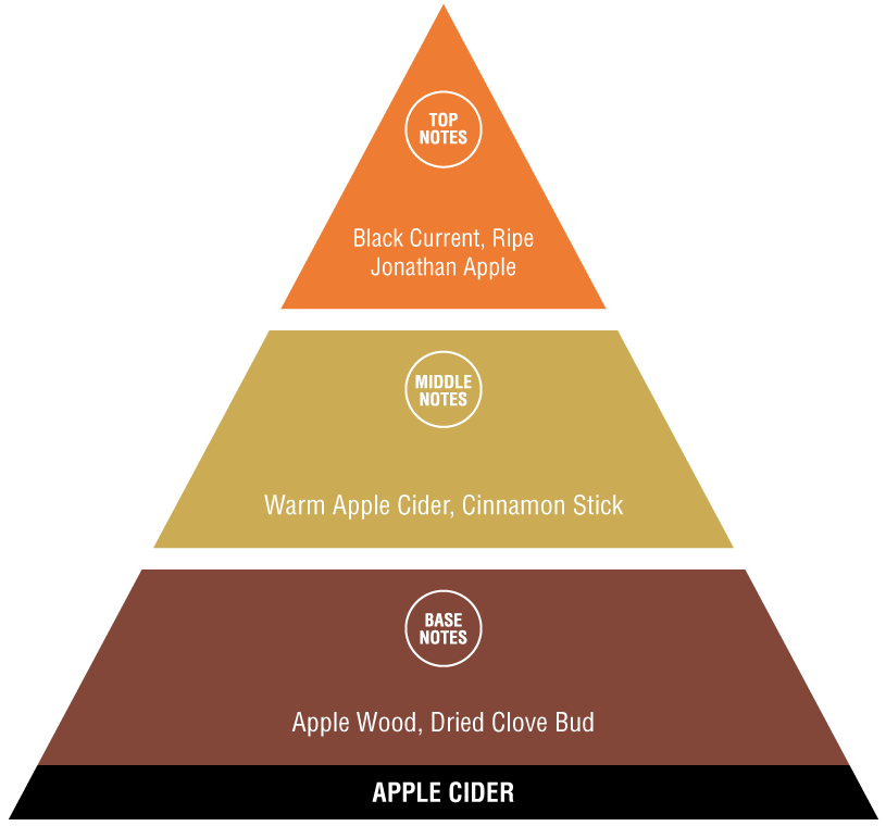 Apple Cider fragrance pyramid