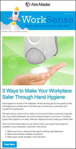 WorkSense newsletter thumbnail