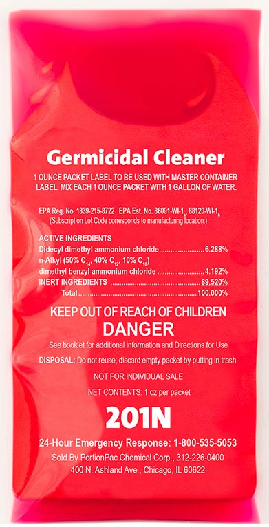 PortionPac Germicidal Cleaner