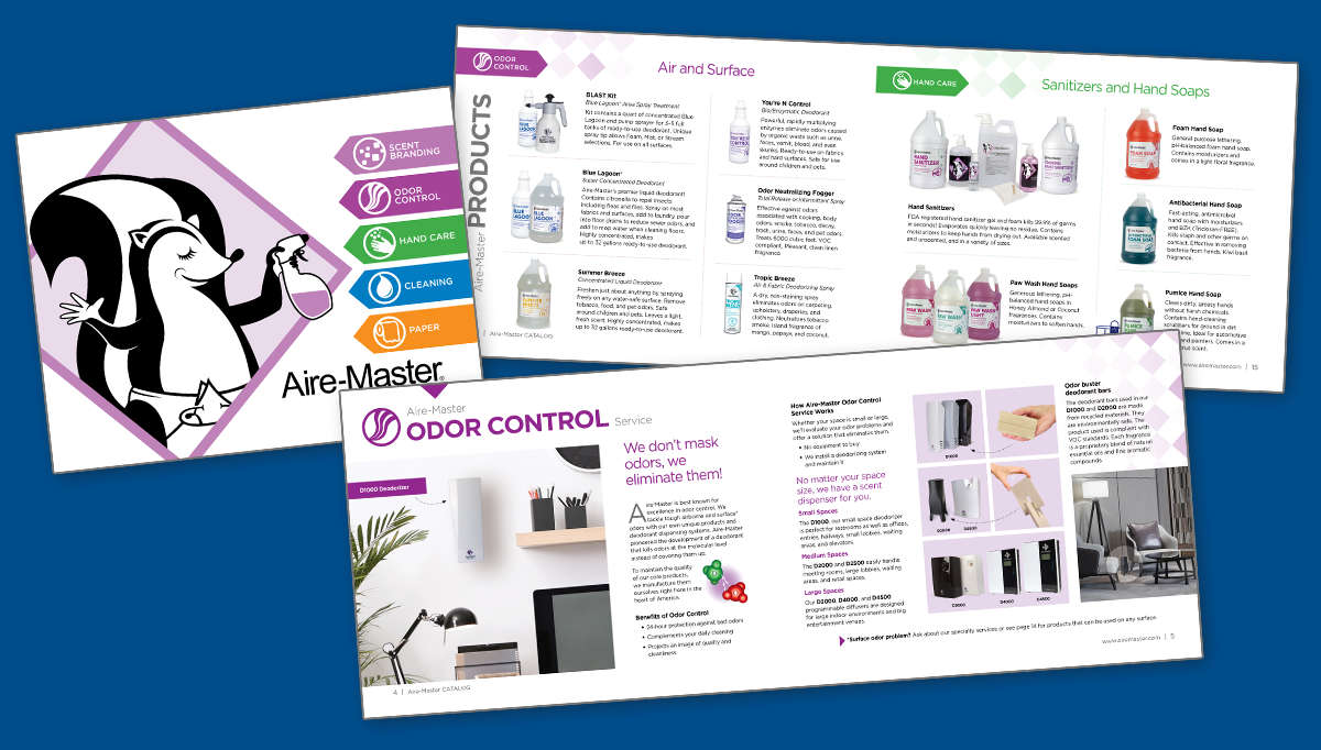 Aire-Master Catalog and inside spreads